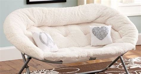 I Would Love This For Naps Sherpa Double Chair (pottery
