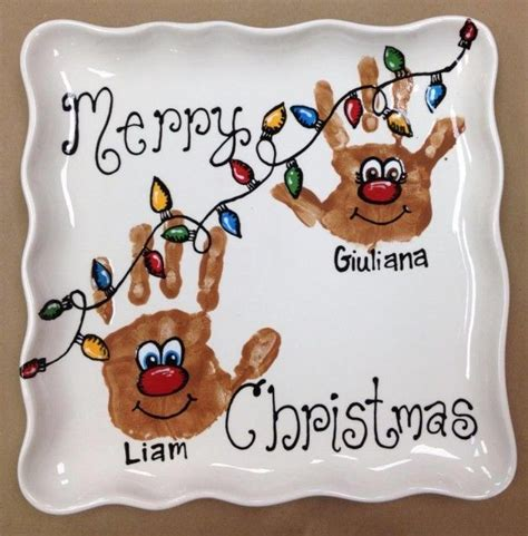 christmas handprint plates google search handprint