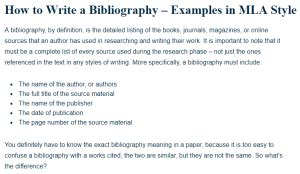 How to Write a Bibliography - Examples in MLA Style - A ...