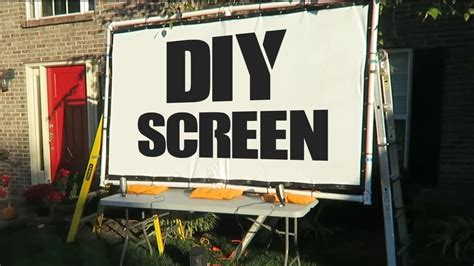 diy  screen  projector  blind life youtube