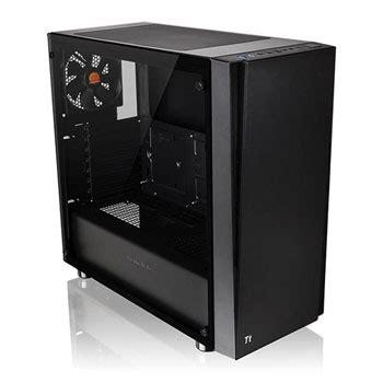 thermaltake versa  tempered glass mid tower pc gaming case ln ca  mwn  scan uk