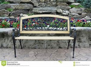 Ornate Park Bench stock photo. Image of bench, stone ...