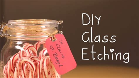 diy glass etching holiday ideas youtube