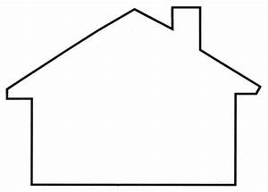 pictures shape house template coloring page for kids With printable house template for kids