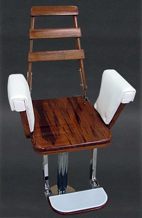teak helm chair by nautical design for your sport fishing