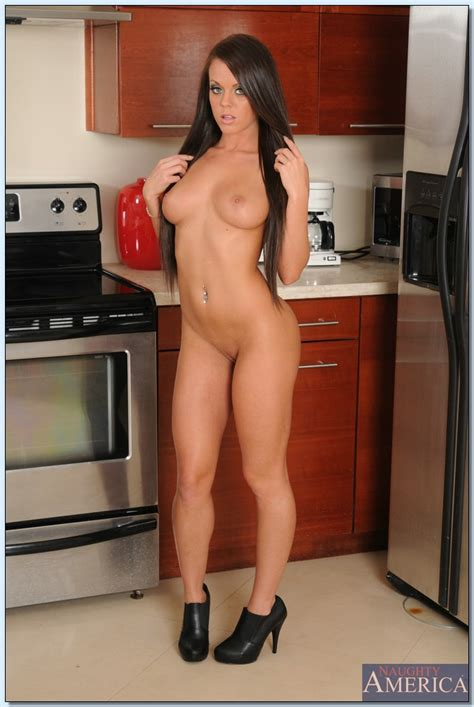 Hot Milf Is Getting Naked In Kitchen Photos Rahyndee