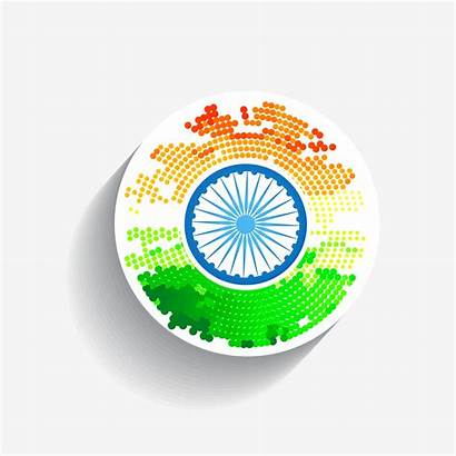 Flag Indian Stylish Creative Vector Background Independence