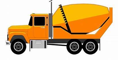 Cement Mixer Concrete Truck Clipart Clip Silhouette