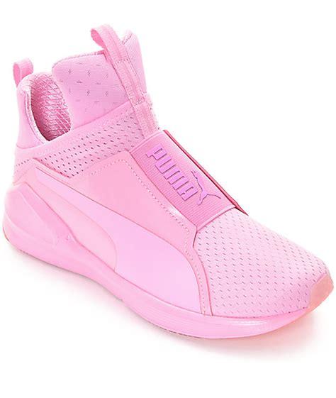 light pink puma shoes puma fierce bright mesh pink shoes