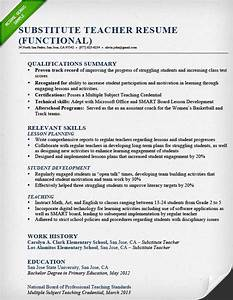 teacher resume samples writing guide resume genius With functional resume format