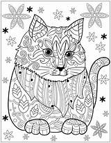 Coloring Adult Books Cat Pages Dog Patterns Stress Relieving Designs Colouring Mandala Drawing Etsy Sheets sketch template