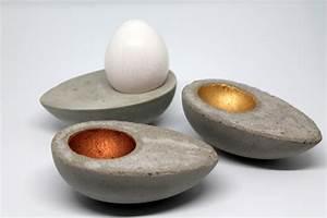 Beton Glätten Anleitung : diy eierbecher aus beton in eierform ganz einfach selber machen mit dieser anleitung klappt es ~ Bigdaddyawards.com Haus und Dekorationen