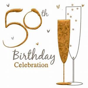 36 x 50th birthday celebration invitation cards party ...