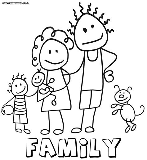 family coloring pages coloring pages    print