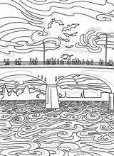 Coloring Congress Bridge Austin Borrel Li sketch template