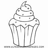 Coloring Muffin Dessert Ultracoloringpages sketch template