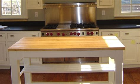 kitchen island counter 1 1 2 inch maple wood countertop in blond color with 1883
