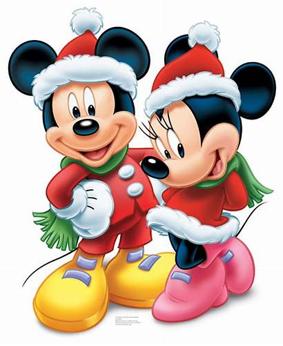 Mickey Christmas Disney Clipart Merry Characters During