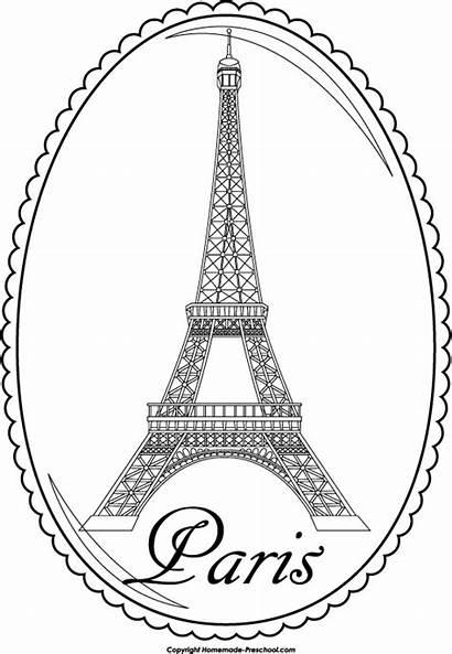 Eiffel Tower Coloring Pages Paris Printable Adult