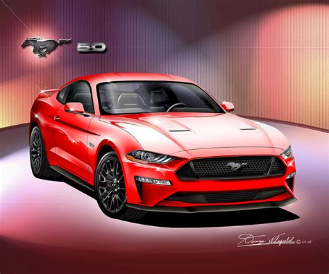 Ford Mustang 2018  2019 Fine Art Prints & Posters By