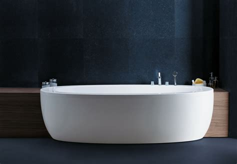 design your bathroom free ilbagnoalessi one semi recessed bathtub by laufen ambient