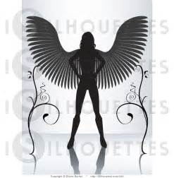 Female Angel Silhouette Clip Art