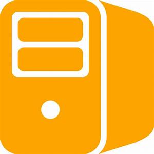 Free orange server icon - Download orange server icon