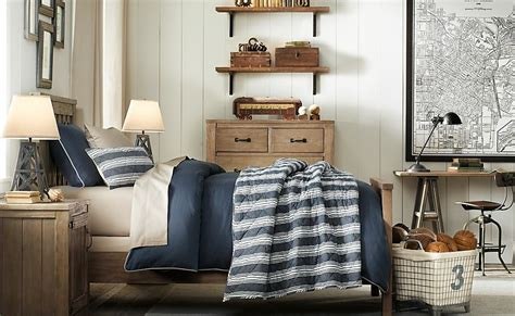 blue white boys room scheme bed cover olpos design