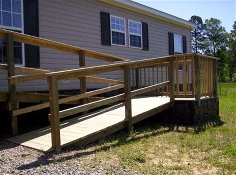 ramp  mobile  manufactured home   handicap ramps mobile home porch wheelchair ramp