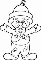 Clown Coloring Wecoloringpage Character sketch template