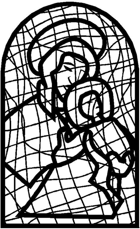 maria mit jesus kirchenfenster ausmalbild malvorlage