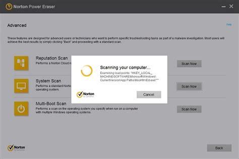 norton power eraser advanced options