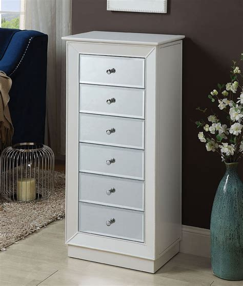 White Jewelry Armoire by Talor Jewelry Armoire White By Acme Furniture