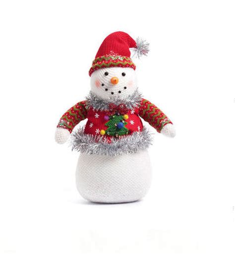 ugly sweater snowman table decoration happy holidayware