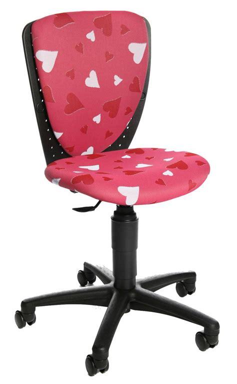 chaise bureau fille chaise de bureau 224 roulettes pour enfant fille motifs coeurs