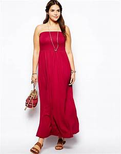 robe longue grande taille 54 bustier rouge cerise la With robe taille 54