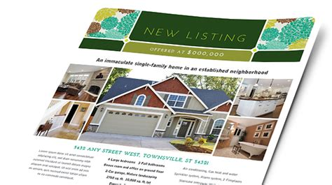 real estate brochures flyers word publisher templates