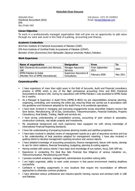 Give Me An Exle Of A Resume by Hizbullah Khan Resume