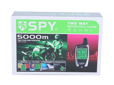 authentic lcd display two way motorcycle alarm system microwave sensor remote engine start