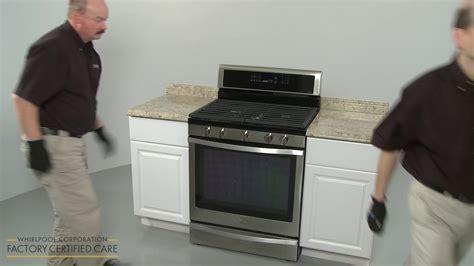 gas oven installation whirlpool gas range installation model wfg745h0fs 1199