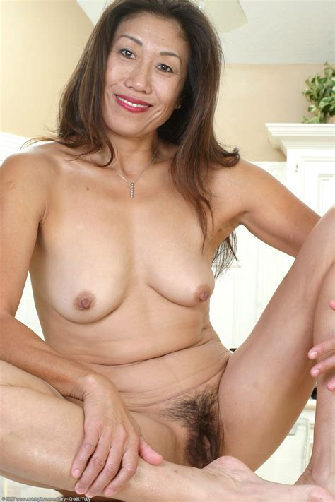 6  Porn Pic From In The Kitchen Hairy Asian Mature Milf