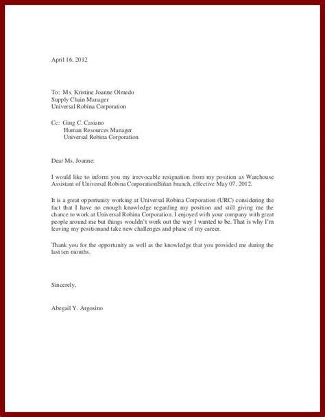 exles of resignation letters 18 resignation letter template zasvobodu 20961
