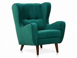Fauteuil Bleu Pétrole : fauteuil en tissu velours coloris bleu p trole vente de chaise de jardin conforama ~ Teatrodelosmanantiales.com Idées de Décoration