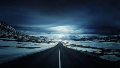 4k Ultra Road Winter 3840 2160 Wallpapers