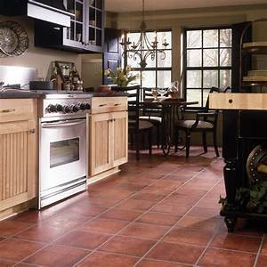 spanish tile flooring pros and cons homesfeed With what kind of paint to use on kitchen cabinets for outdoor terracotta wall art