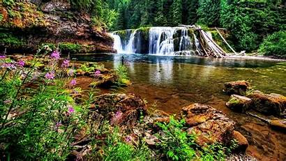 Pond Waterfall Wallpapers Waterfalls Background Backgrounds Desktop