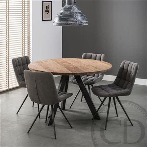 cuisine pieds noirs table de cuisine ronde industrielle pieds métal sur cdc design