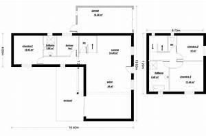 plan maison etage en l With plan maison etage 100m2 3 plan de maison 100m2 avec garage idees novatrices de la