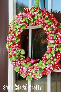DIY Christmas Ribbon Wreath And Tree - Shelterness