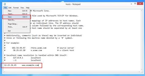 edit hosts file  windows  ipserverone